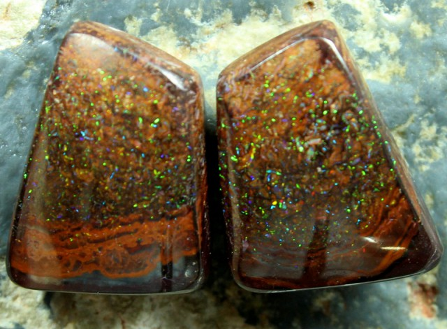 29.30 CTS BOULDER OPAL PAIRS FOR EARRINGS/CUFFLINKS