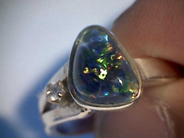 Beautiful Triplet Opal Ring 925 sliver  7 SP07