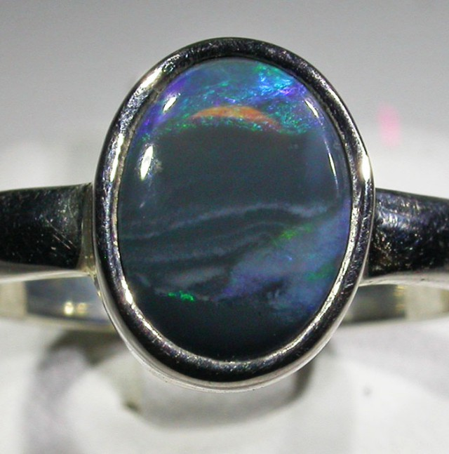 RING SIZE 8 SOLID OPAL FACTORY DIRECT [SOJ4735]