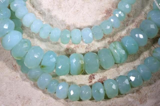PERU BLUE OPAL BEADS  70 CTS  TBO-2882
