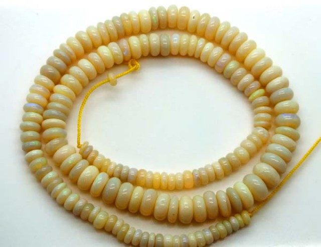 WHITE OPAL BEADS 107.5 CTS  TBO-2889