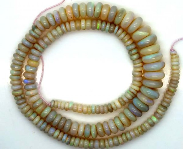 WHITE OPAL BEADS 90 CTS  TBO-2888