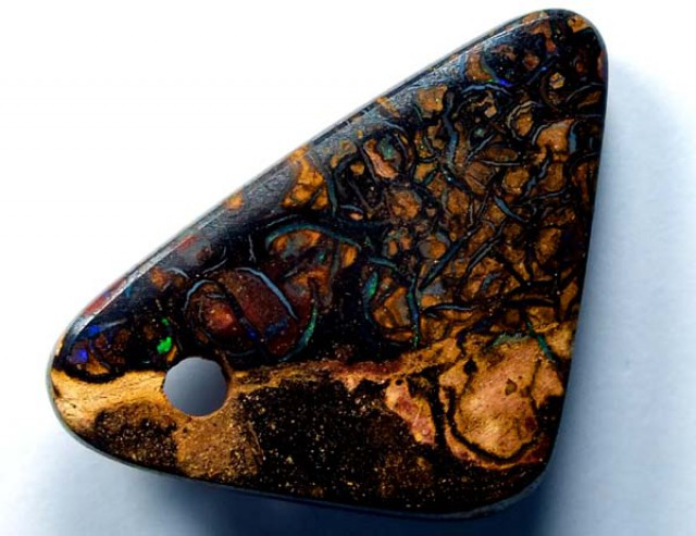 BOULDER OPAL PENDANT  drilled 13.9 CTS    LO-1366