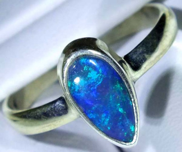 DOUBLET OPAL SILVER RING 11.25 CTS   OF-775