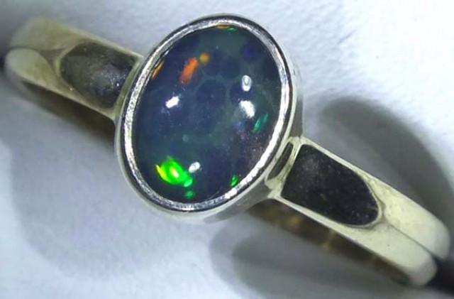 DOUBLET OPAL SILVER RING 9.8 CTS   OF-776