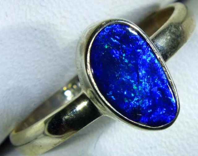 DOUBLET OPAL SILVER RING 11.2 CTS   OF-782