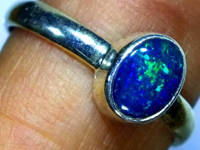 DOUBLET OPAL SILVER RING 9.9 CTS   OF-803