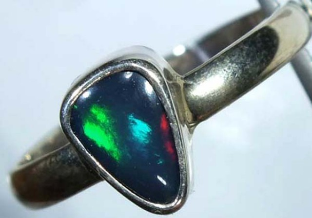 DOUBLET OPAL SILVER RING 10.3 CTS   OF-807