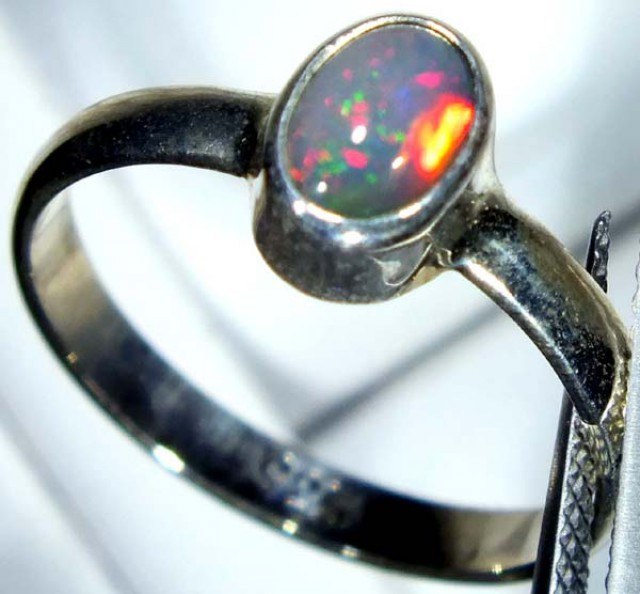 DOUBLET OPAL SILVER RING 9.55 CTS   OF-815
