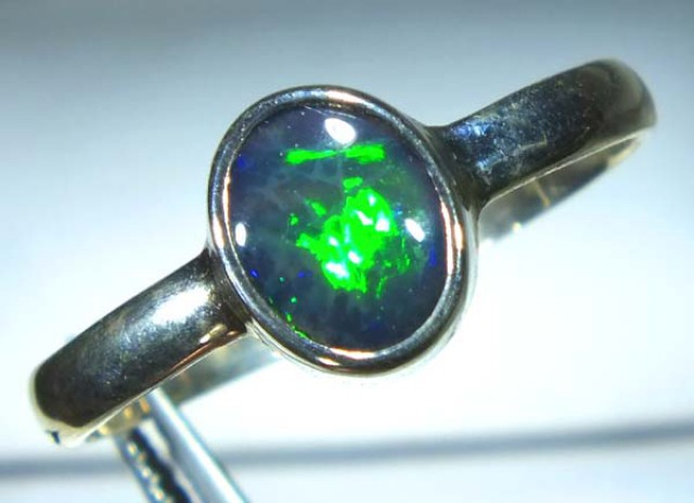 DOUBLET OPAL SILVER RING 10.56 CTS   OF-819