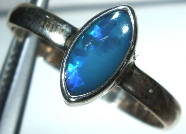 DOUBLET OPAL SILVER RING 10.45 CTS   OF-825