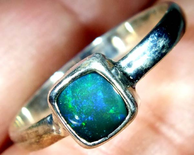 DOUBLET OPAL SILVER RING 10 CTS   OF-829