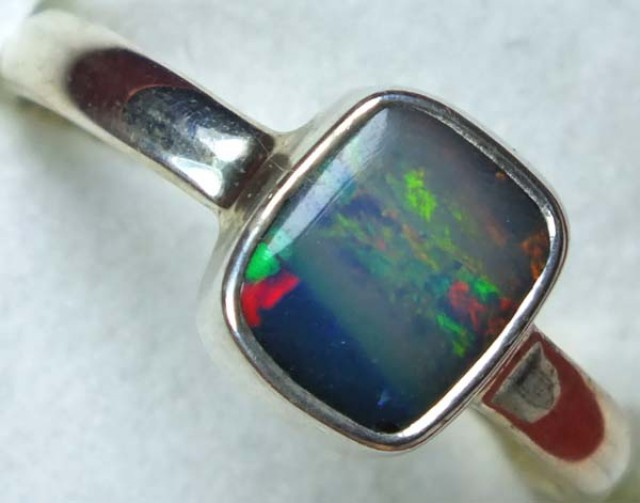 DOUBLET OPAL SILVER RING 11 CTS   OF-832