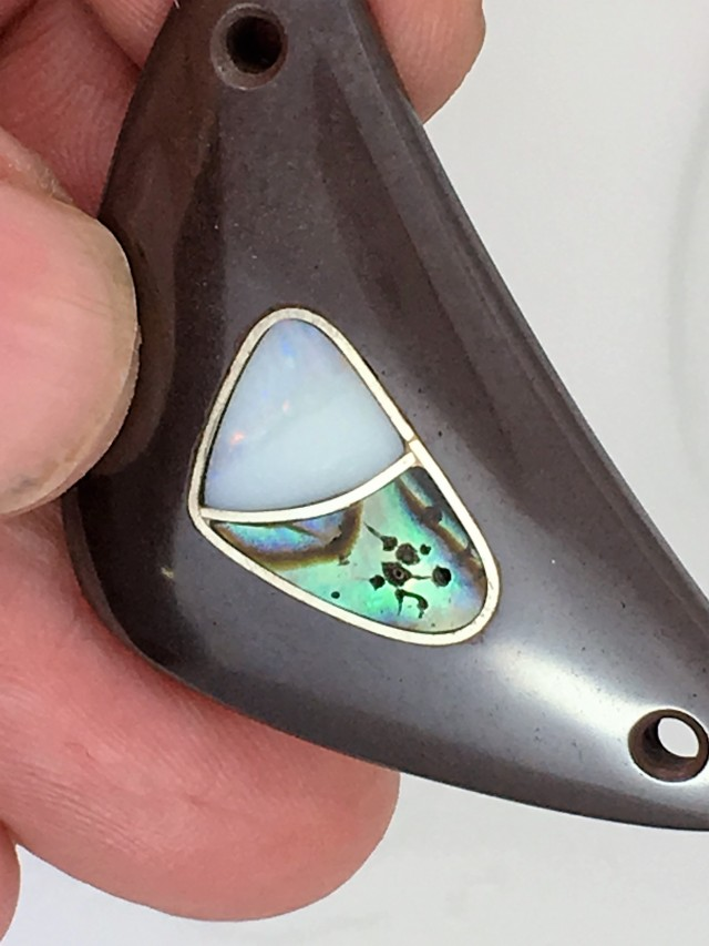 54 CTS LARGE UNIQUEINLAY  OPAL ART  FE436[OA]