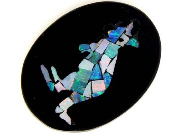 OPAL INLAY PENDANT 6.4 CTS  LO-1556