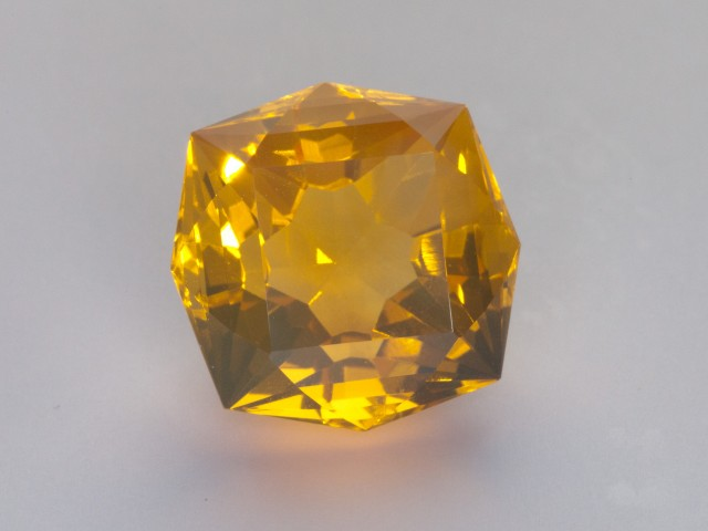 11.85ct Yellow Faceted Octagon Mexican Jelly Opal (MO122)