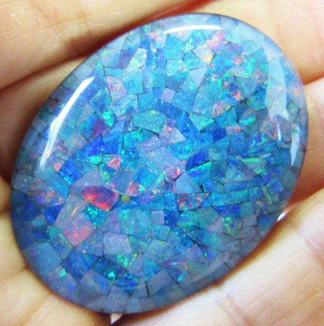 73.55 Cts large Oval  Mosaic triplet  Opal  AGR776