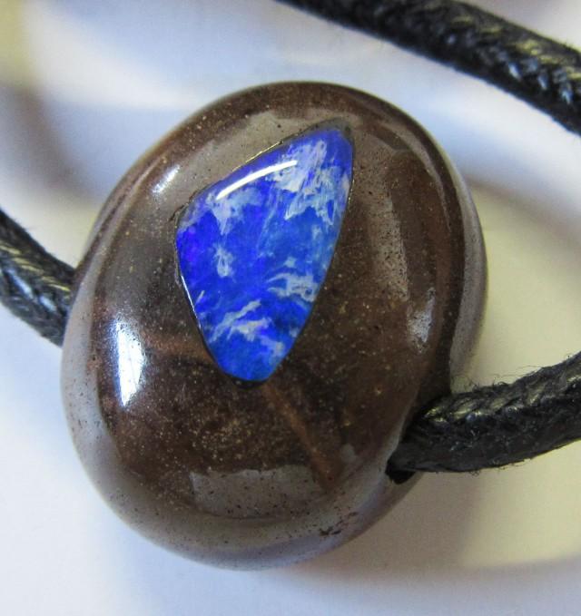 CTS  Boulder   Pendant  Opal Crystal  Inlay AGR361