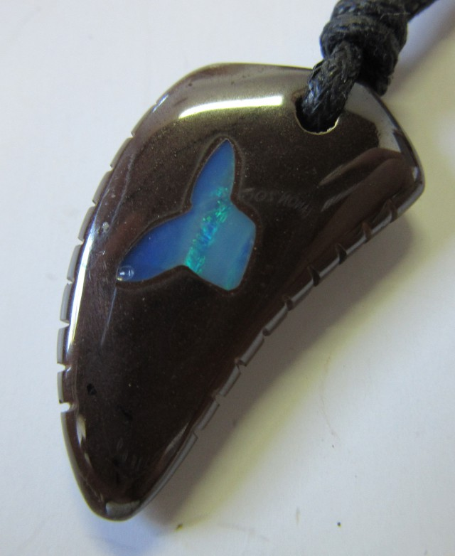 CTS  Boulder   Pendant  Opal Crystal  Inlay AGR362