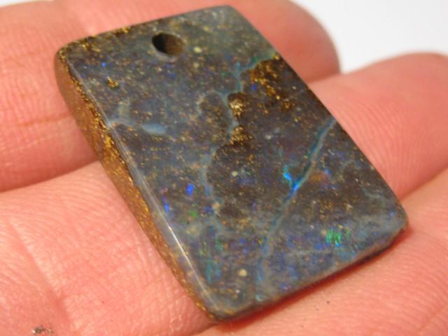 YowahOpals*29.50Cts - Drilled - Winton Boulder Opal.