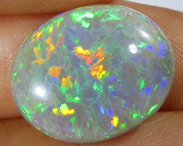 5.3Cts Cabochon Gem crystal Opal straw pattern  A844A