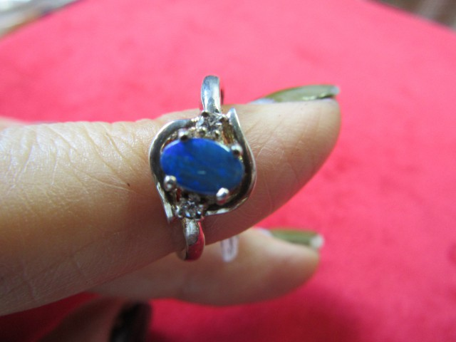 Doublet opal ring Size  6.5   AGR 736