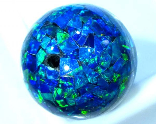 MOSAIC OPAL BEAD  DRILLED 11.80 CTS  LO-1619