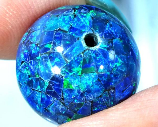 MOSAIC OPAL BEAD  DRILLED 19.75 CTS  LO-1620