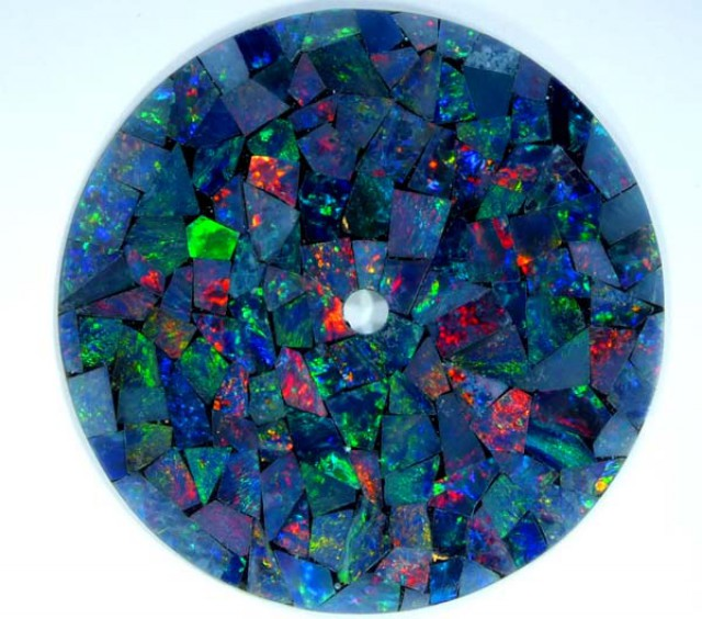 MOSAIC OPAL INLAY WATCH FACE 2.75 CTS  LO-1654