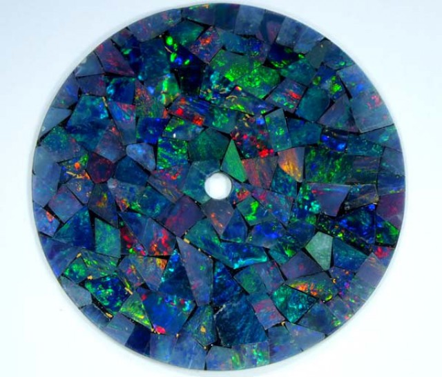 MOSAIC OPAL INLAY WATCH FACE 4.85 CTS  LO-1657