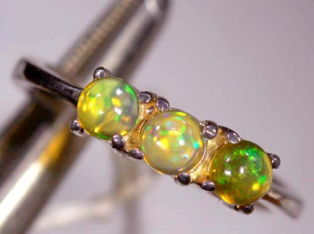 ETHIOPIAN OPAL RING STERLING SILVER 13.70 CTS    OF-891