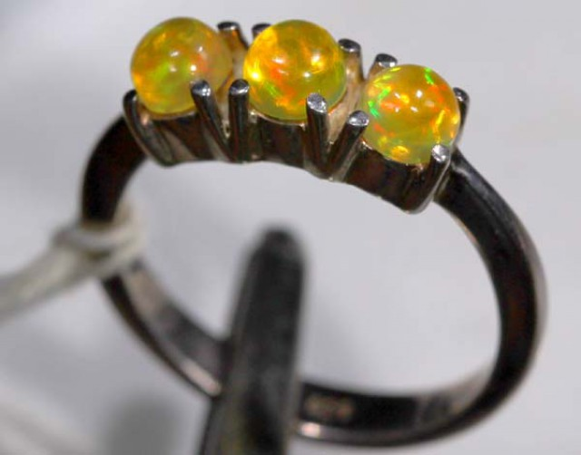 ETHIOPIAN OPAL RING STERLING SILVER 14.45 CTS    OF-896