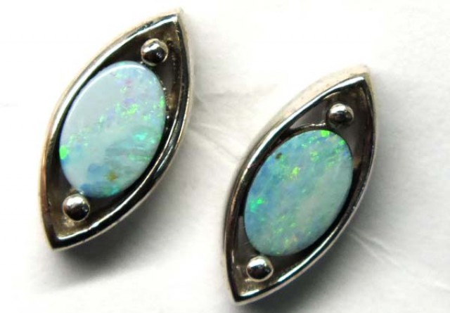 DOUBLET SILVER  EARRINGS  7.3  CTS    OF-922