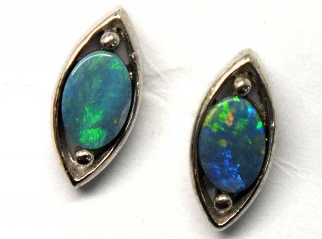 DOUBLET SILVER  EARRINGS   7.2  CTS    OF-924