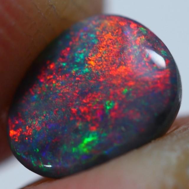0.85cts Wonderful Untreated BLACK Lighting Ridge Australian Opal