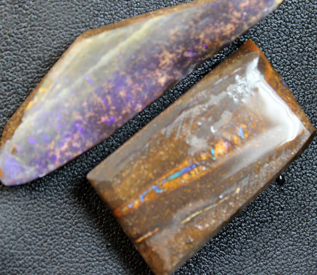 116 CTS 2 PCS BOULDER OPAL RUB FACED FOR EASY CUTTING