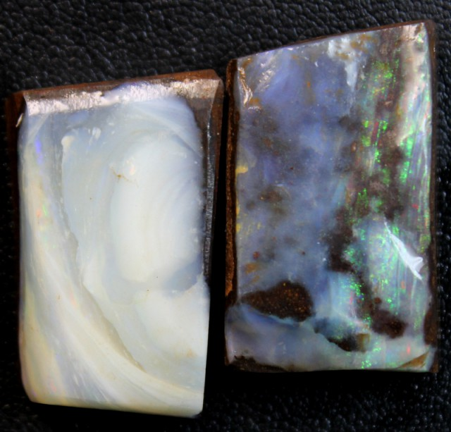 89.6 CTS 2 PCS BOULDER OPAL RUB FACED FOR EASY CUTTING