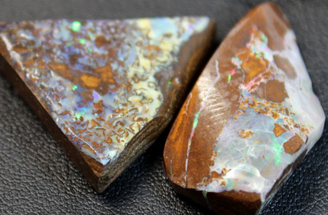 90 CTS 2 PCS BOULDER OPAL RUB FACED FOR EASY CUTTING