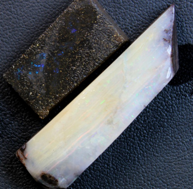 74 CTS 2 PCS BOULDER OPAL RUB FACED FOR EASY CUTTING