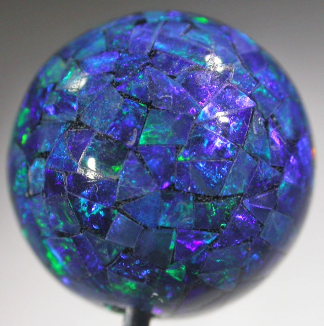 12.5 CTS 12 MM  MOSAIC OPAL BEADS [SO4944]
