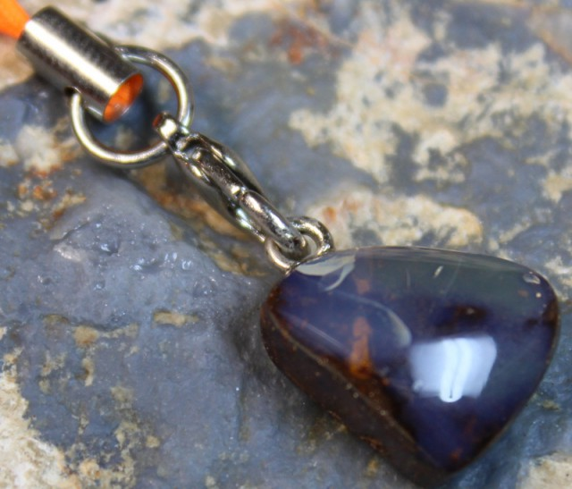 17 CTS  BOULDER OPAL KEY CHAIN/MOBILE PHONE C8249