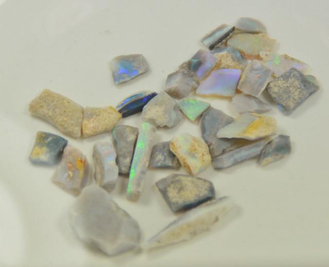 Mintabie Opal Rough Parcel, 100 carats