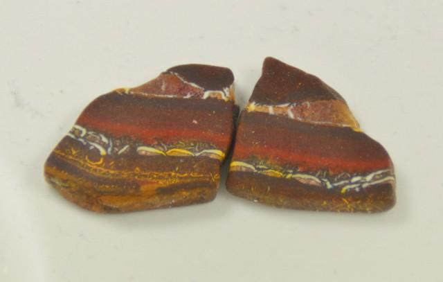 Yowah Boulder Opal Pair Rubs, 87.6 ct
