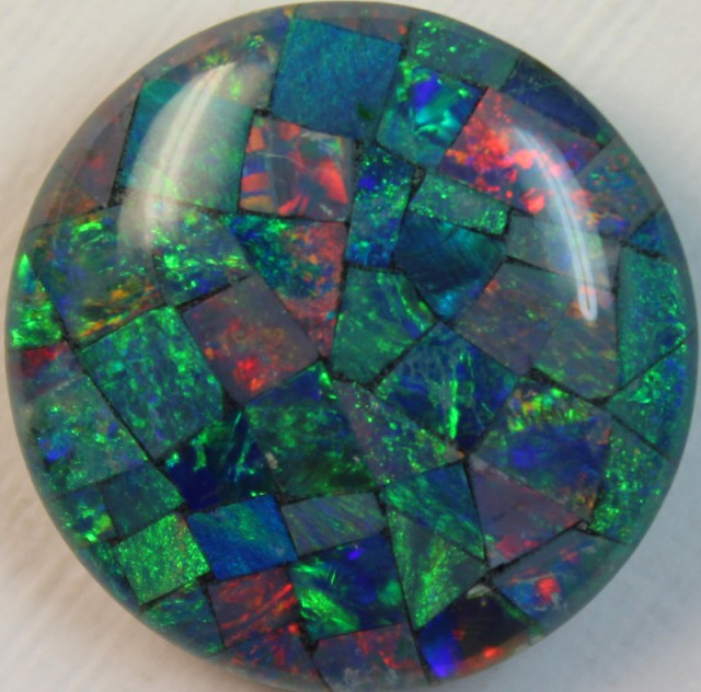 14 cts AAA + MOSAIC TOP CRYSTAL OPAL USE TO MAKE THESE MOSAICS C8396