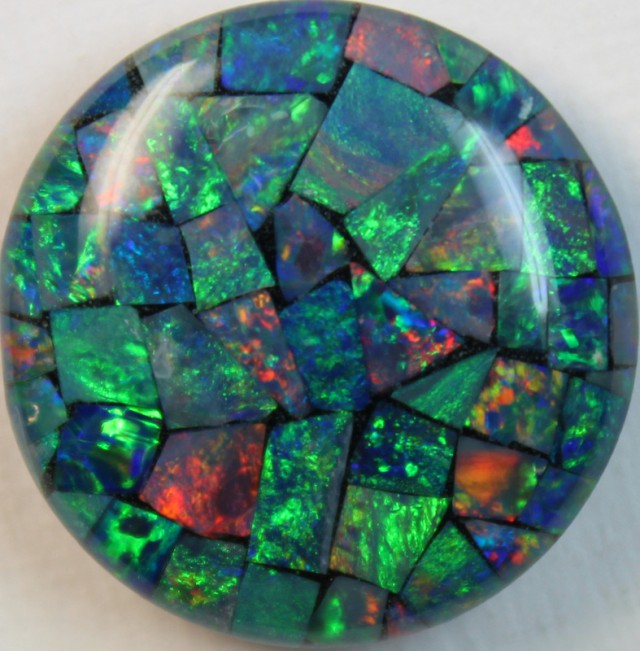 15 cts AAA + MOSAIC TOP CRYSTAL OPAL USE TO MAKE THESE MOSAICS C8397