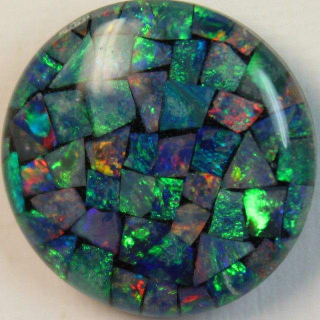 14.9 cts AAA + MOSAIC TOP CRYSTAL OPAL USE TO MAKE THESE MOSAICS C8398