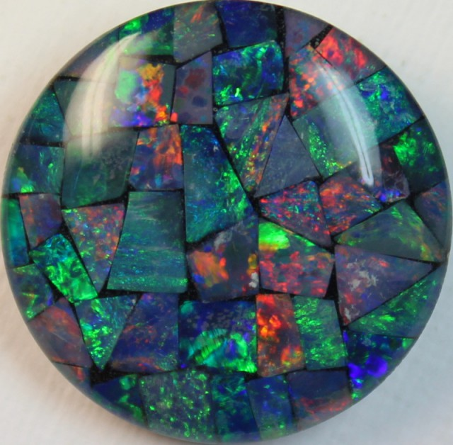 14 cts AAA + MOSAIC TOP CRYSTAL OPAL USE TO MAKE THESE MOSAICS C8402