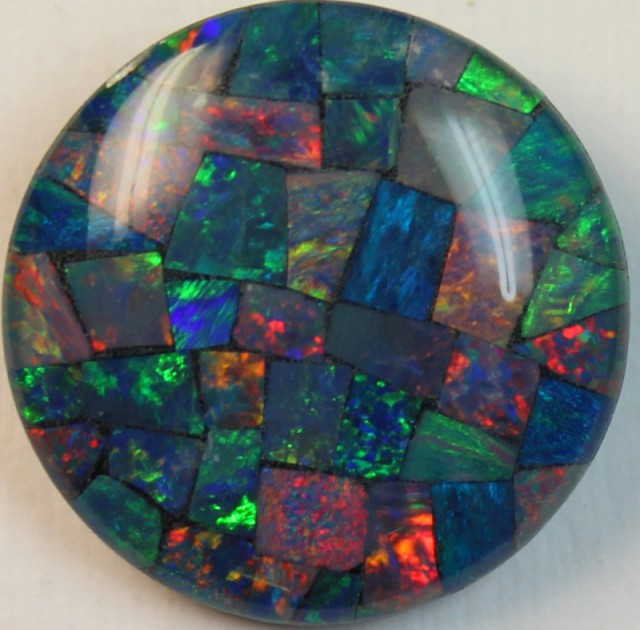 13.8 cts AAA + MOSAIC TOP CRYSTAL OPAL USE TO MAKE THESE MOSAICS C8404