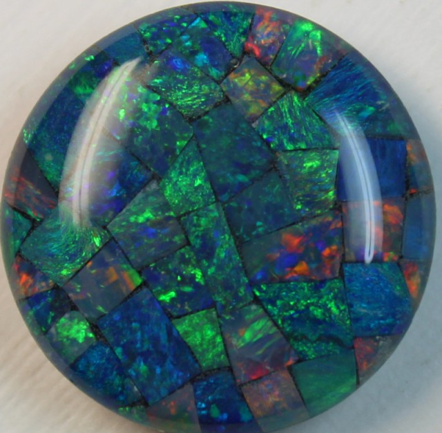 15 cts AAA + MOSAIC TOP CRYSTAL OPAL USE TO MAKE THESE MOSAICS C8406