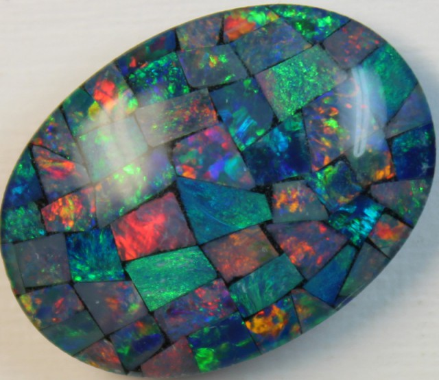 16.6 cts AAA + MOSAIC TOP CRYSTAL OPAL USE TO MAKE THESE MOSAICS C8407